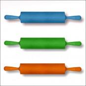 Скалка силиконовая (25х5см) 48см
