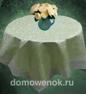 Скатерть виниловая на фланелевой основе «Sarasa зелёная»