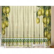 Тюль для кухни Лимоны