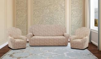 К-кт чехлов на 3-х мест.диван + 2 кресла KAR-002 без оборки