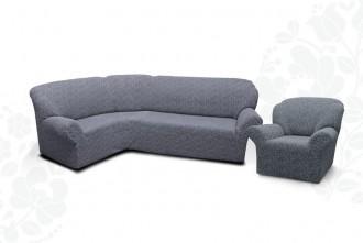 К-кт чехлов на угловой диван + 1 кресло KAR-002 без оборки