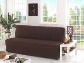Чехол для дивана «Karna» трехместный без подлокотников, без юбки