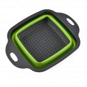 Дуршлаг силиконовый раскладной квадратный (22х10)
