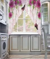 """Фототюль для кухни углом """"Фиолет- 2"""""""