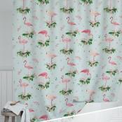 """Штора для ванной """"Фламинго"""""""