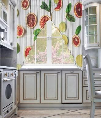 Фототюль для кухни углом «Фреш»