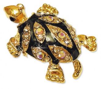 Брошь «Черепаха-золото»
