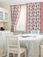 Комплект штор для кухни «Цветик»