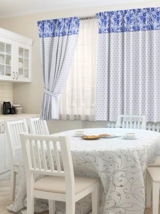 Комплект штор для кухни «Фарфор»