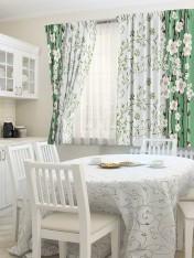 Комплект штор для кухни «Талисман зеленый»