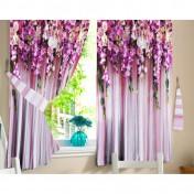 Комплект штор для кухни Ламбрекен из цветов