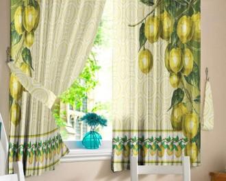 Шторы  для кухни «Лимоны»