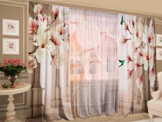 Комплект штор с цветной тюлью «Мечтательный взгляд»
