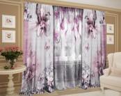 Комплект штор с цветной тюлью «Мисс Диор»