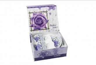Набор чайных пар «Благородная роза» - 2 шт - 220мл