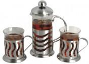Чайный набор 3 предмета из нержавеющей стали