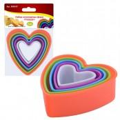 Набор кулинарных форм «Сердце» (5 шт)