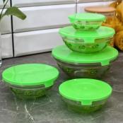 Набор салатников с крышками «Киви» (5 шт)