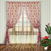 Комплект штор роза фиолет