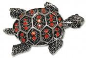 Брошь-кулон «Черепаха-серебро»