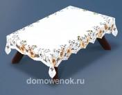 Скатерть прямоугольная, белоснежная, с рисунком, плотная 100*150см и 130*180см