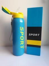 Спортивная термокружка с трубочкой 500мл