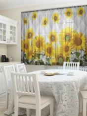 Тюль кухня «Флорист»