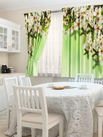 """Шторы  для кухни """"Яблоневый сад"""""""