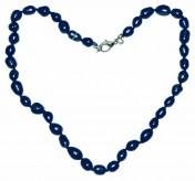 Ожерелье из культивированного жемчуга лазурит