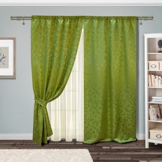 Комплект штор зелень