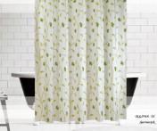 Шторы для ванной Зелёные узоры